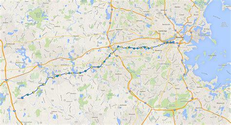 boston marathon route map boston marathon map boston magazine
