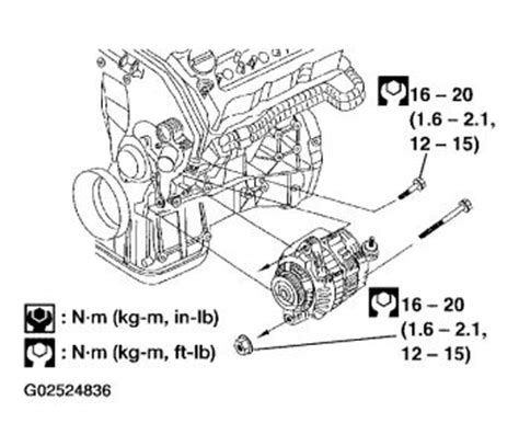 2005 nissan altima changing alternator electrical problem