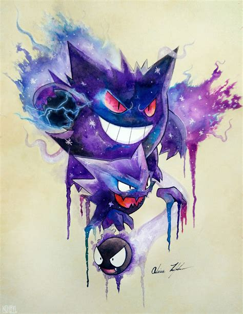 haunter tattoo gastly evolutions by nohbyl on deviantart