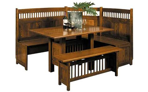 classic mission dining nook set    specialty