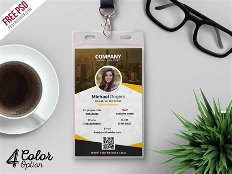 r280 id card tray template psd corporate identity card design template psd