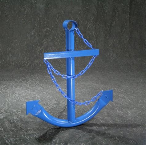 speed boat anchor steel navy boat anchor with chain 72 quot blue