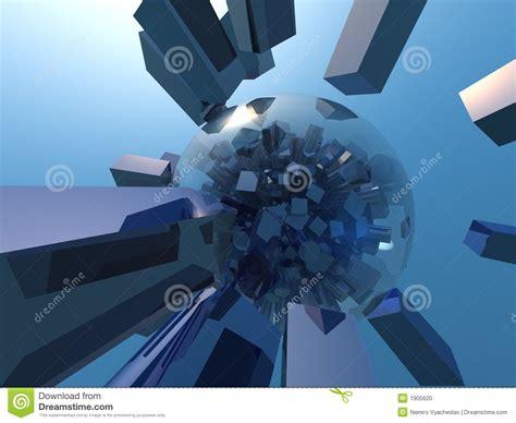 cubist space blue cubism d stock photo image 1905620