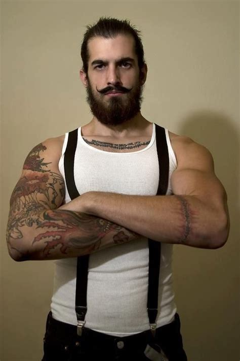 suspender tattoo trifecta suspenders tattoos and beard