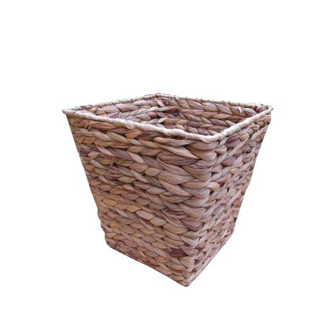 waste paper baslet water hyacinth square waste paper basket bin