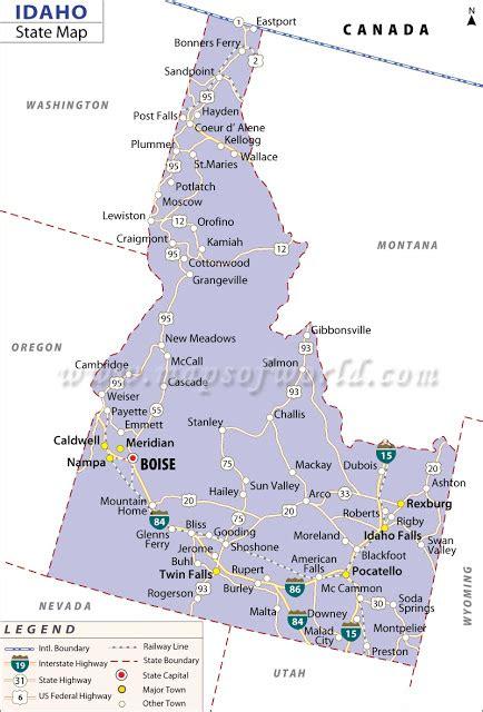 idaho map usa map of idaho state map of usa