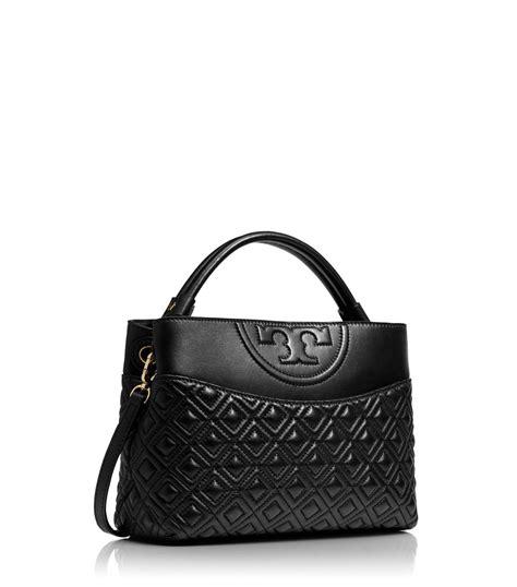 Burch Flemming Small Black 1 burch fleming mini leather satchel in black lyst