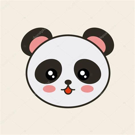 imagenes de ositos kawaii cute bear panda tender isolated icon stock vector