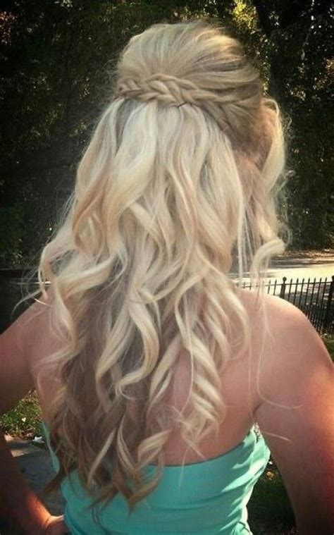 homecoming hairstyles half up curly with braid fashionable half up half down hairstyles hair tutorials
