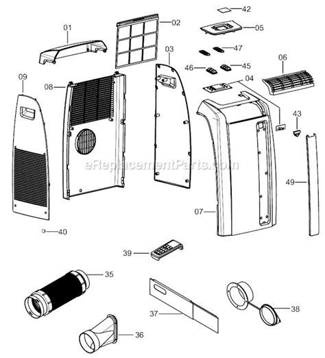 delonghi air conditioner parts delonghi paca110 parts list and diagram