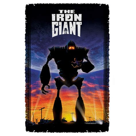 iron giant bathroom iron giant poster woven tapestry throw blanket trevco