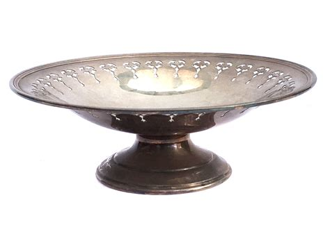 Pedestal Plate Stand edwardian epns silver plate pedestal cake stand by biminicricket