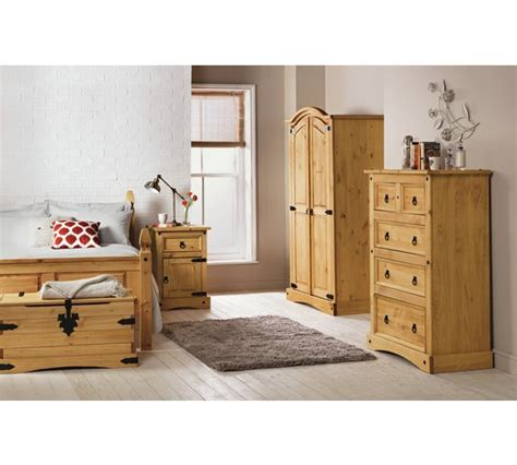 puerto rico bedroom furniture buy collection puerto rico 2 door wardrobe light pine at