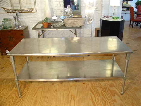 kitchen island metal sense of spaciousness in metal kitchen island home ideas