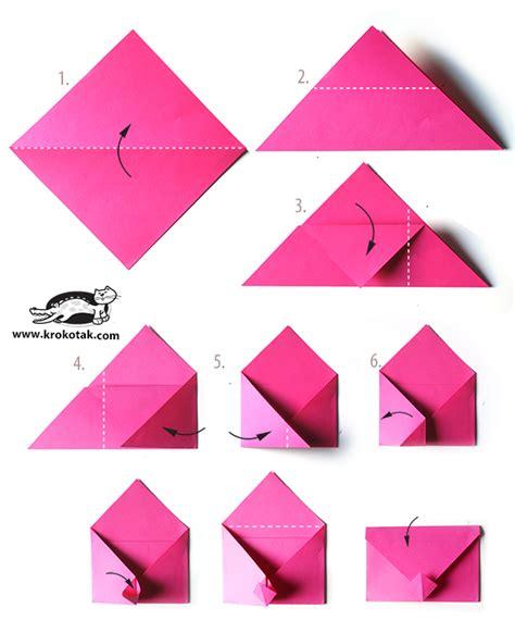 Origami Envelope Template - krokotak envelope origami