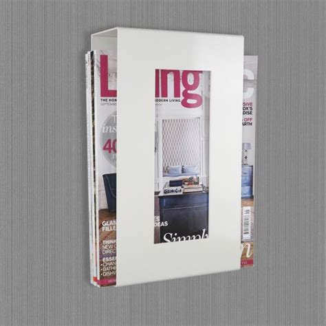 Wall Mounted Magazine Rack Uk by Wall Mounted Metal Magazine Rack Ivory