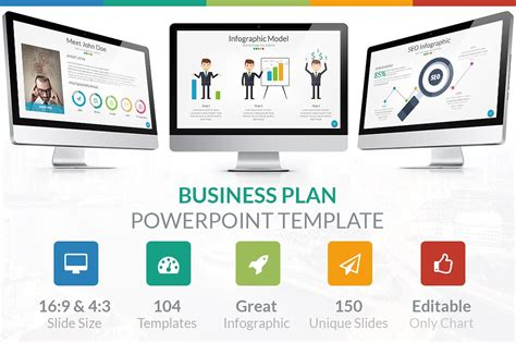 Business Plan Powerpoint Template Presentation Templates Creative Market Business Presentation Ppt