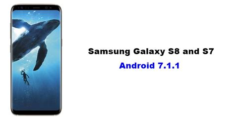When Android 8 Release For S7 by Samsung Galaxy S8 And S7 Android 7 1 1 Update Should