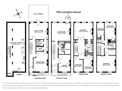 brownstone floor plan go back gt gallery for gt historic brownstone floor plans