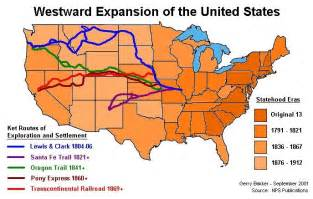 Expansion Of The United States Map by Westward Expansion Timeline Conflict And Reform The