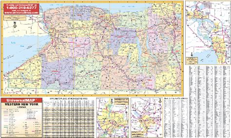 zip code map western ny western new york state map