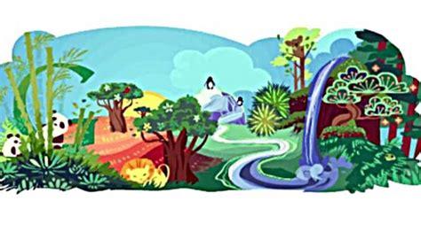 doodle bumi doodle peringatan hari bumi dari tahun ke tahun