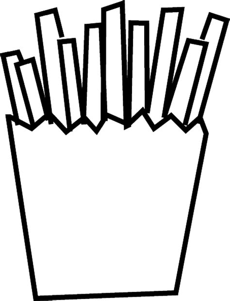french fries free coloring pages