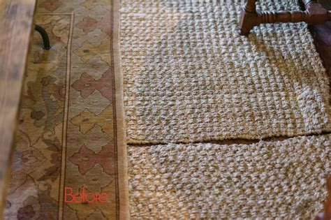 Sew Rugs Together by Stitching Two Jute Rugs Together Details