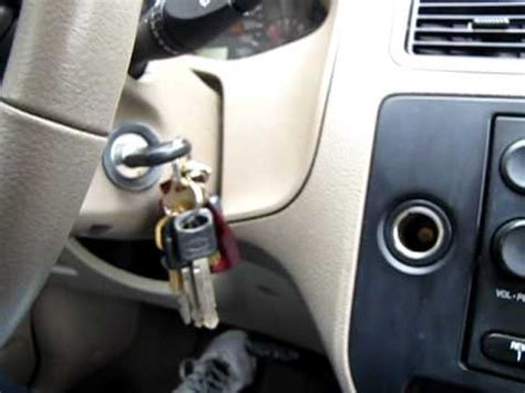 key stuck  ignition ford focus  youtube