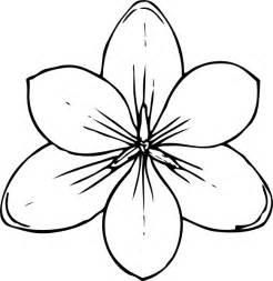 Flower Outline by Crocus Flower Top View Clip At Clker Vector Clip Royalty Free Domain