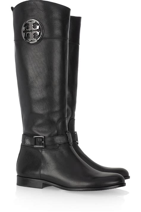 burch black boots burch patterson leather boots in black lyst