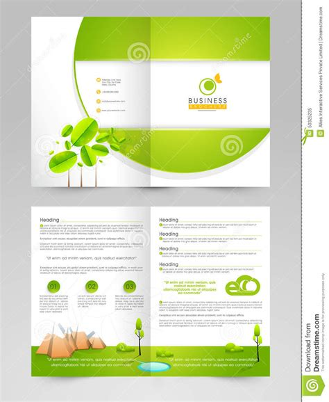 brochure flyer templates brochure flyer or template for eco concept stock photo