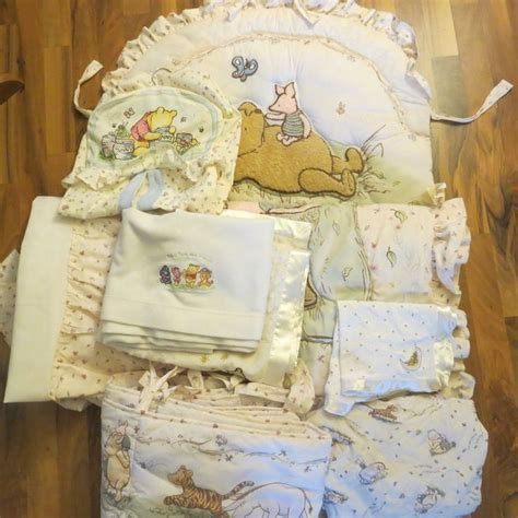 Classic Nursery Decor Classic Winnie The Pooh Crib Nursery Bedding Stacker 9 Items Nursery Bedding The O