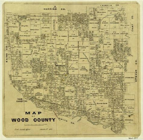 wood county texas map map of wood county sequence 1 the portal to texas history