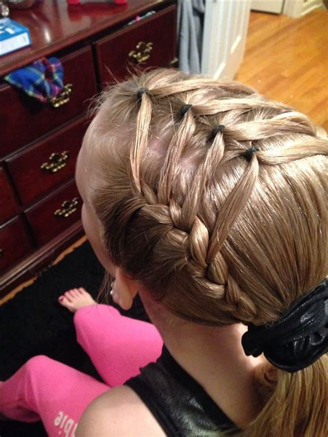 hair styles for gymnastic meets gymnastics hairstyle hair pinterest