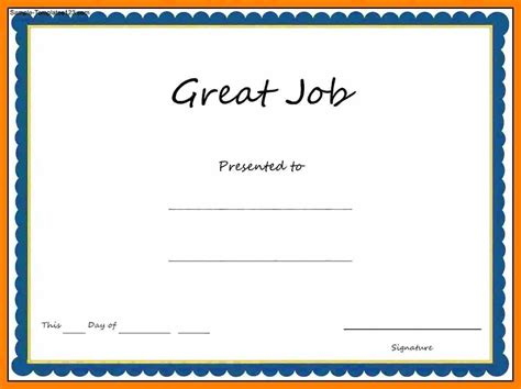 Template Word Award Certificate Template Microsoft Word Award Template