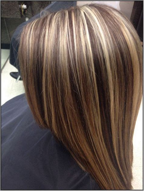 chunking or highlighting short brown hairstyle best 25 chunky highlights ideas on pinterest chunky