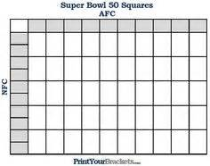 Bowl Block Pool Template by Blank Football Pool Template 100 Square Football Pool