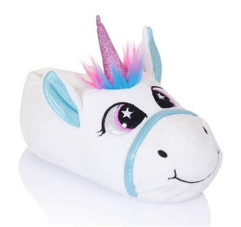 unicorn slippers uk boys novelty plush slippers unicorn