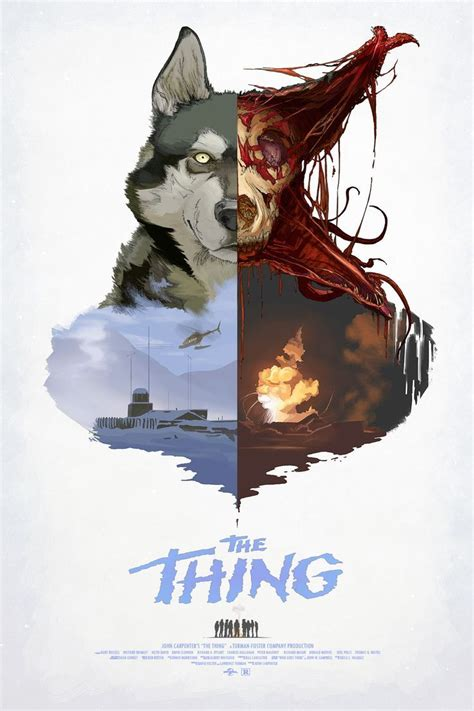the thing minimalist poster the thing 1982 poster on inspirationde