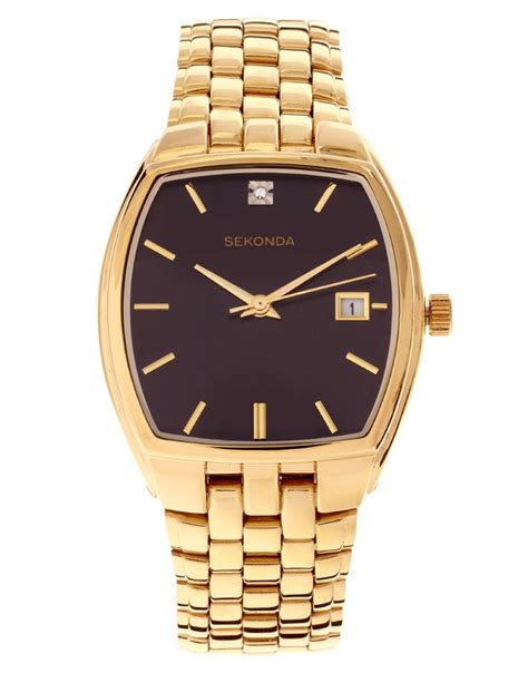 sekonda sekonda gold at asos