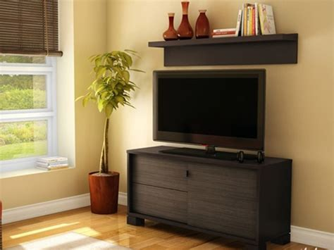 agora tv stand with wall shelf