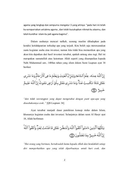 Demi Kemaslahatan Islam pandangan islam terhadap resiko