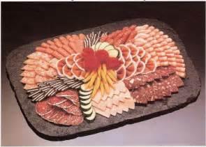 dekoration wurstplatte kalte platten buffet