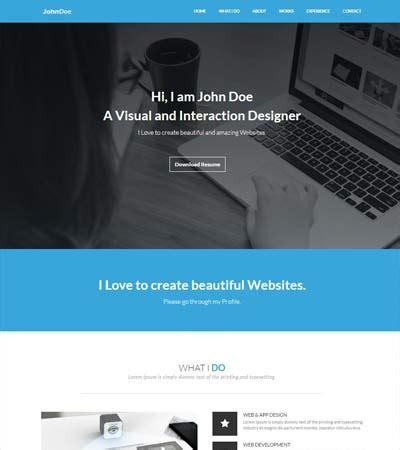 bootstrap resume template professional resume templates free webthemez