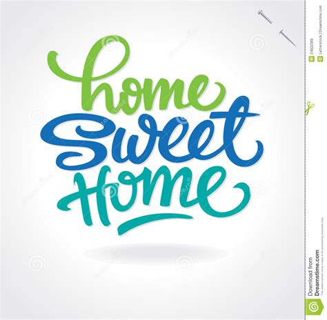 Sweet Home 3d House Design Home Sweet Home Hand Lettering Vector Royalty Free