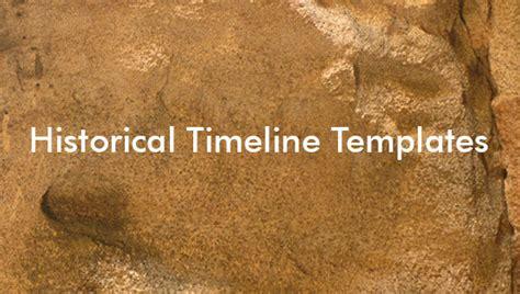 historical timeline templates    format