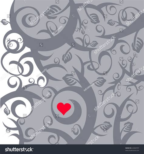 heart vine pattern vine pattern with heart stock vector illustration 24404797