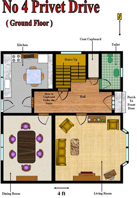 House Plans By Dimensions by Hpl Atlas Number Four Privet Drive
