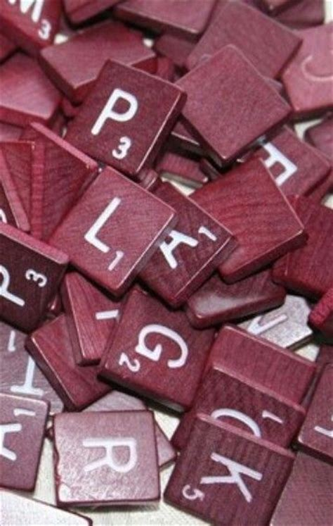 maroon scrabble tiles runners pantone color and of on